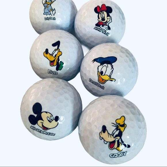 Disney Golf Balls Pro Collection Set of 6 USA NIB